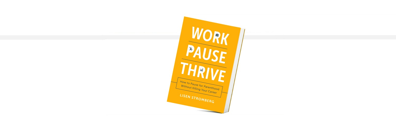 Work Pause Thrive Book Cover for Mompreneurs